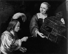 Fig. 4: Pieter van Noort, The Tame Sparrow. and poets tried their hands at painting.