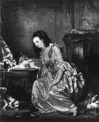 Fig. 8: Jean Baptist Greuze, The Broken Mirror. rely on popular prints done after Boucher. Boucher's work was widely circulated through many prints.
