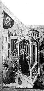 Fig. 1: Melchior Broederlam, Annunciation; Presentation in the Temple, Dijon Musée des Beaux Arts.