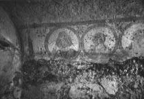 b - Medallions on the eastern wall and a