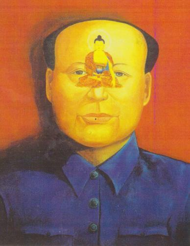 MAO IN TIBETAN DISGUISE 235 Figure 4. Chairman Mao with Sakyamuni Buddha. Courtesy of Karma Phuntsok. But, sedate or subtle it is not.