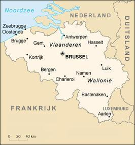 northern border, France at the southern border and Germany and Luxembourg at its eastern border. Figure 1 and 2 show a map of Belgium as it is situated within Western Europe.