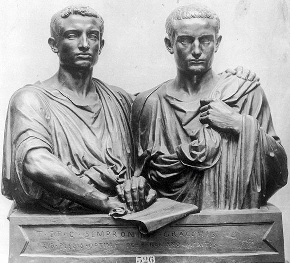 Tiberius and Gaius Gracchus Plebian brothers Reform Rome, especially