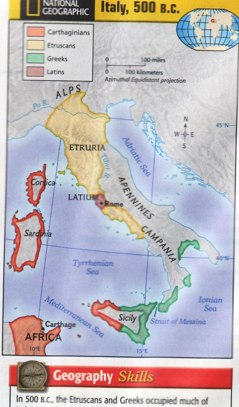 Geography Etruscans