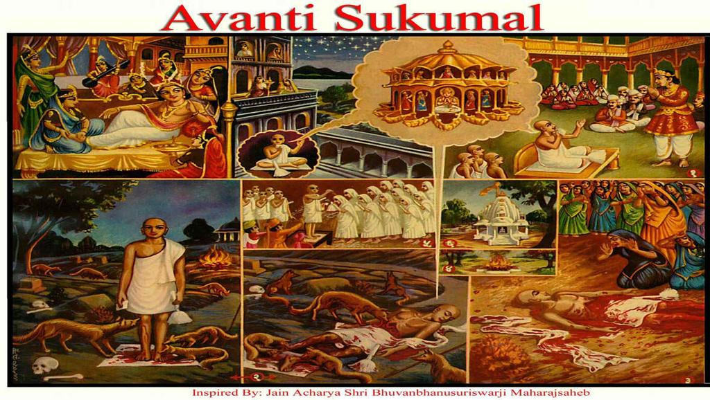 [13] AVANTI SUKUMAL (Sacrifice) (1) Once Arya Suhastiji was revising the lesson of Nalini Gulma at a horses stable late in the night. Avanti heard this recital and remembered his past life.