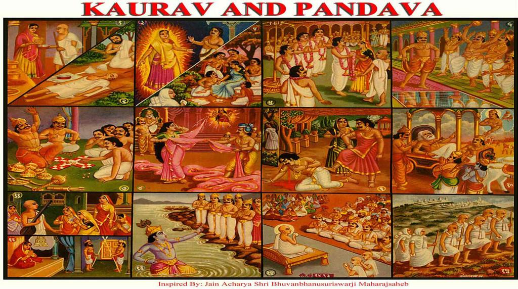 [27] KAURAVA AND PANDAVA (Gamble - Renouncement) (1) Draupadi, in her previous birth, had offered a Jain Monk bitter and poisonous gourd vegetable.