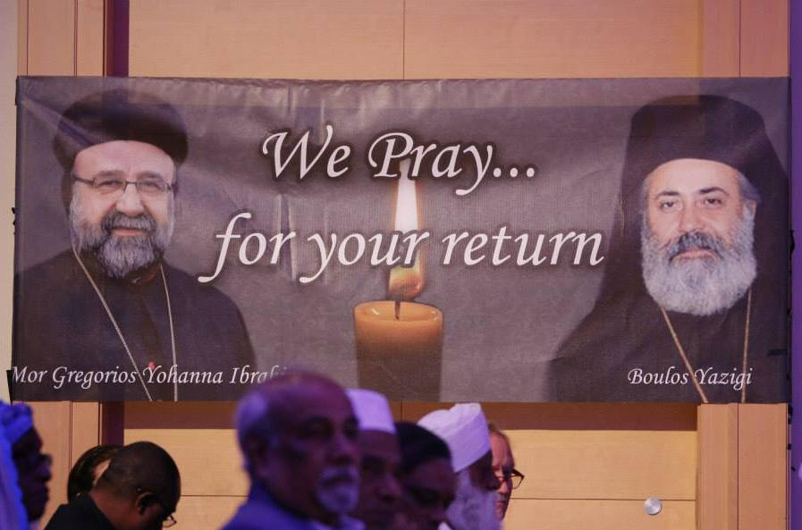 Religious Leaders Call for Release of Two Syrian Bishops More than 600 religious leaders at the 9th World Assembly of Religions for Peace unanimously appealed for the release of two abducted Syrian