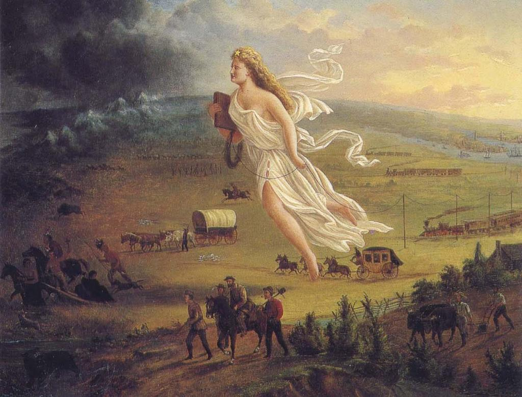MANIFEST DESTINY The idea that God has willed the United States to span the continent of North