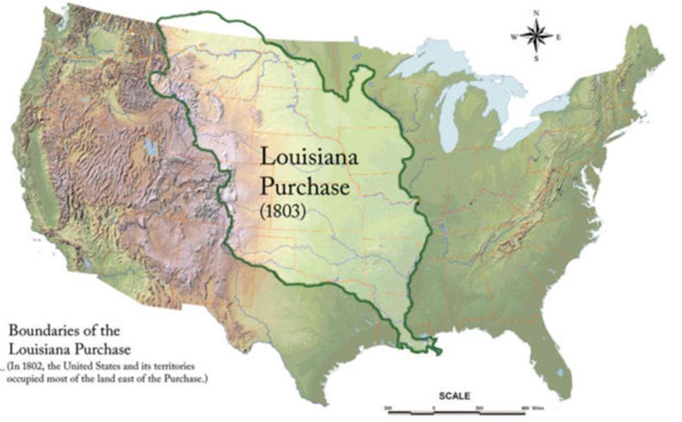 Strictly forbade slavery in these new territories Louisiana Purchase Doubled