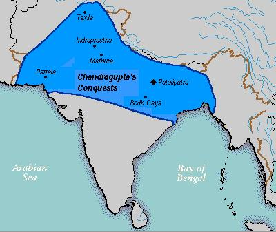 Maurya overran the whole country with an army of 600,000.