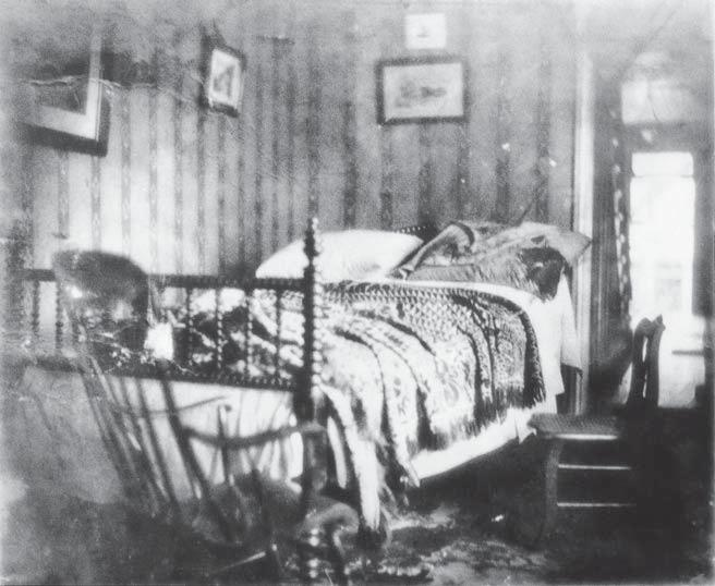 144 MANHUNT Morning, April 15, 1865. Lincoln s deathbed shortly after his body was taken home to the White House. ident.