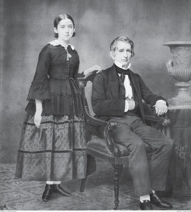 his sacred blood 69 Secretary of State William H. Seward and daughter Fanny. hideous appearance, the wounds were not fatal. Seward who to Dr. Verdi looked like an exsanguinated corpse would live.