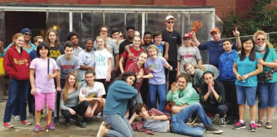 We did small cleaning and fixing-up projects there for the gardening ministry and sorted and cleaned up supply closets, yardwork, pressure-washing, and helped them move into their new off-campus art
