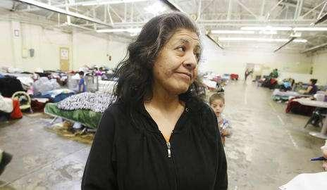 Claudia Palomeque talks about her stay at the Road Home Winter Overflow Shelter in Midvale Tuesday, Feb. 18, 2014. (Jeffrey D.