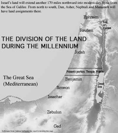 THE DIVISION OF THE LAND ACCORDING TO EZEKIEL S VISION Do you notice anything different between the allocation of Israel s tribes