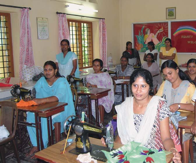 SAUDDHARA SEWING CENTRE FOR WOMEN, VILLOONNI One of the priorities of Salvatorian Apostolate is the empowerment of women.
