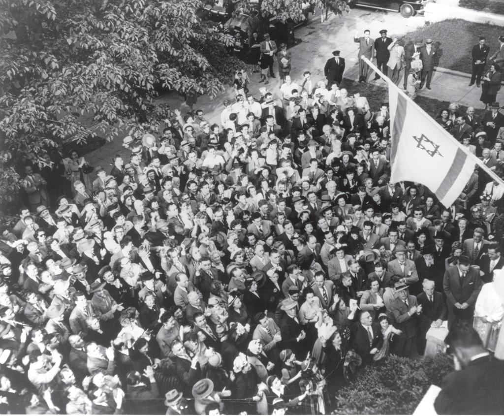 The Washington Post Look closely at this photograph or at the Local Stories poster. It shows a crowd gathered outside the Jewish Agency building at 2210 Massachusetts Avenue, NW, Washington, D.C.