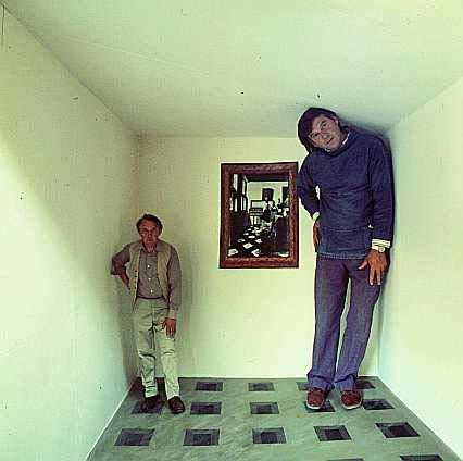 Ames Room Illusion An Ames room is constructed so that from the front it