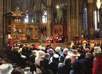 the service to mark the 60 th anniversary of the Coronation of Her