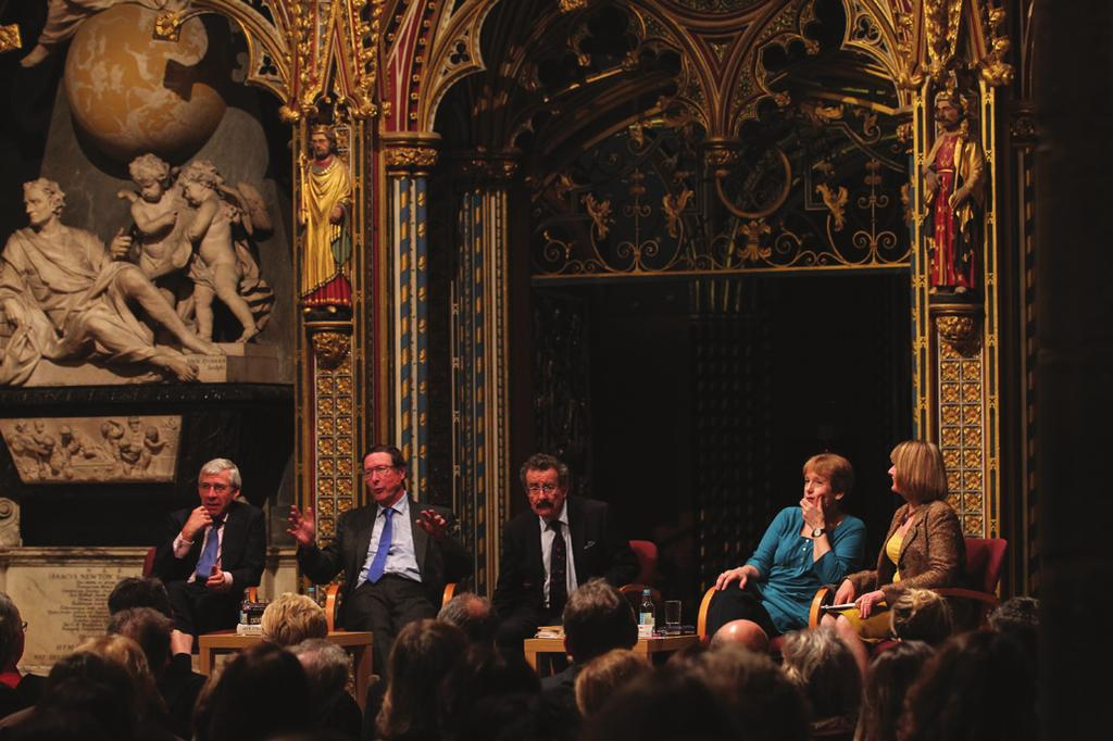 The Canon Theologian The Right Honourable Jack Straw MP, Sir Max Hastings, Lord (Robert) Winston and Wendy Cope with the
