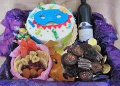 Assorted Toppings, Dried Fruit Bowl, Nosh & Bottle of Wine