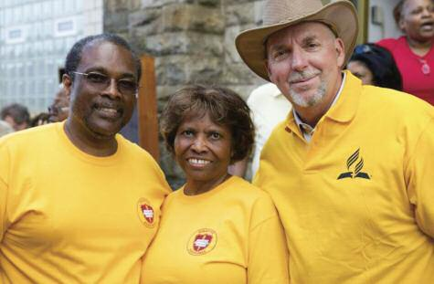 The ACS team at Berea Temple in Baltimore, led by Kecia Hitch, organized the distribution of essential items, such as water, protein drinks, hygiene products, baby diapers and other items.
