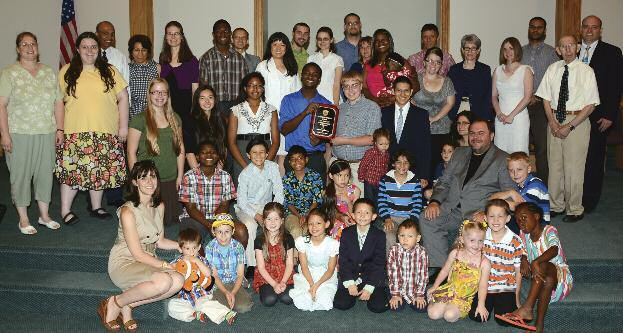 AUGUST 2014 Pittsburgh Church Receives Outreach Award The Pittsburgh church s community service outreach has tripled since 2008, with an estimated 70 percent of its members involved.