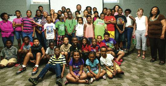 Summer Camp Serves Families in Need Asummer camp program for about 100 children from low-income families is continuing on WAU s campus through August 10, thanks to a successful collaboration between