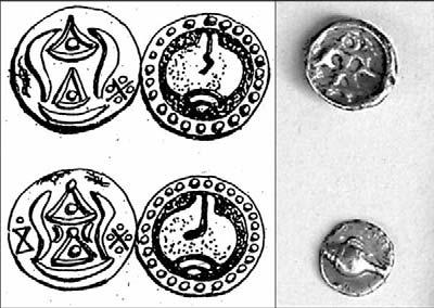 moore and win. the gold coast: suvannabhumi? 211 Fig. 5. Kyaikkatha coins (left) and Thein Zayat coins (right). The structure uncovered at KKT7 is located just west of Kyaikkannon.