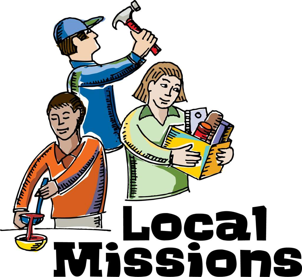 P a g e 1 1 L o c a l M i s s i o n s Through October, Local Missions activity has donated an estimated value of $7133.