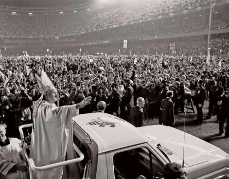 REPLACING A POPE FOR THE AGES 15 Pope John Paul II drew stadium-size crowds on his visit to the United States in October 1979.