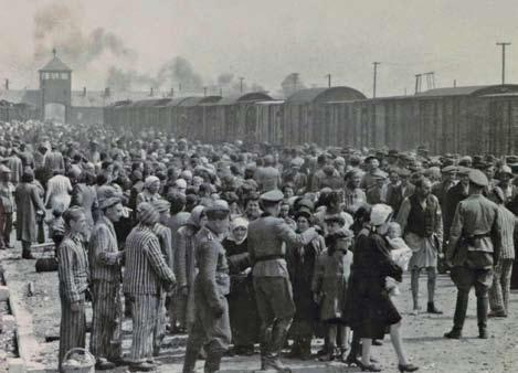 PARADISE LOST 49 A transport of Hungarian Jews is processed at the Auschwitz-Birkenau concentration camp in Poland in May 1944.