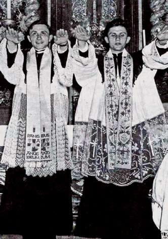 A PARADISE REGAINED 57 Joseph (right) and Georg Ratzinger were ordained to the priesthood in Munich, Germany, on June 29, 1951.