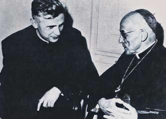 A PARADISE REGAINED 65 Cardinal Joseph Frings talks to young professor Joseph Ratzinger. Frings would greatly impact Ratzinger s career by taking him along to Vatican II.