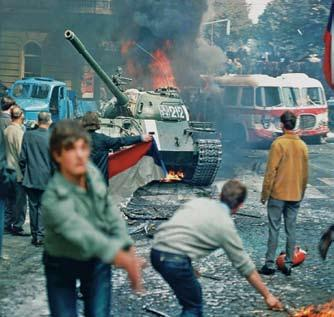 70 POPE BENEDICT XVI Demonstraters in Prague throw burning torches at an approaching tank in this photograph from August 21, 1968.