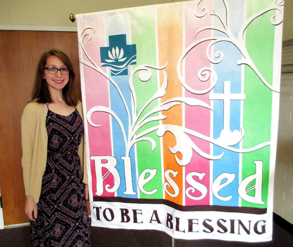 granddaughter). The banner has been displayed at Redeemer Lutheran, Seal Beach.