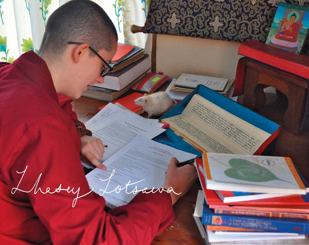 In 2013 our major project was preparing the book of study materials for Phakchok Rinpoche s first Outer Tantras Nine Yanas retreat at Rangjung Yeshe Gomde Cooperstown.