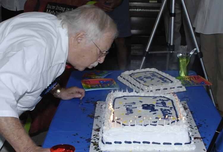 Happy 80th Fr. Nelson! Photo courtesy of Tom Ham On Saturday September 8, one day after his actual birthday, a number of St.
