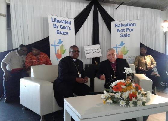 Wilfrid Fox Napier OFM Cardinal of the Roman Catholic Church and archbishop of Durban welcomed Catholics, Lutherans and other denominations to the joint event.