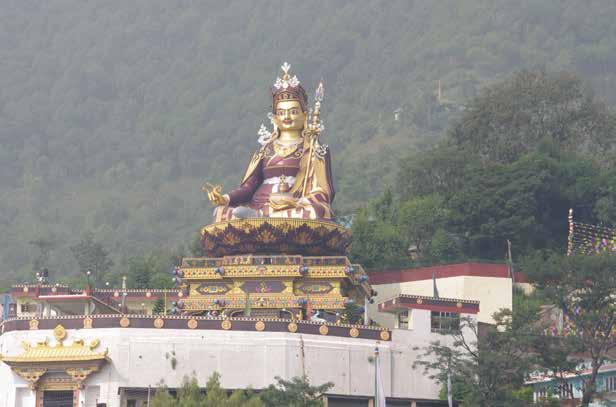 In the moutains is Guru Rinpoche s cave and that of his consort Mandarava, where we prostrated and sat in meditation.