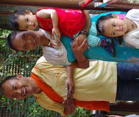 Yeshey Dorje, PRC s secretary with his wife Tsering Lhamo and children.