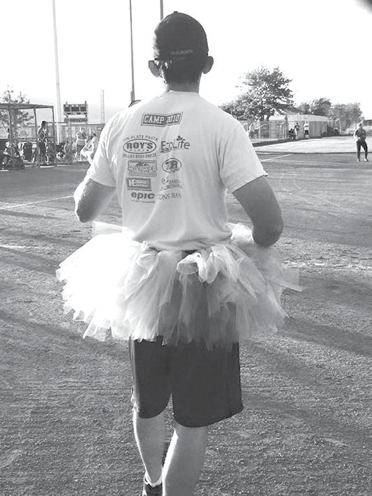 The tutu dare, a new way of generating financial help for the Heidi Seely family added to the fun during the Sanpete Gives Back allnight softball tournament and fundraiser held last weekend.