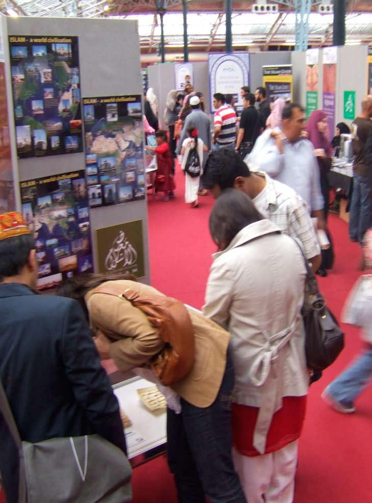 Islam s Enlightened approach to other religions, Islam Expo, London Olympia Exhibition Islam displayed the highly acclaimed Exhibition Islam Quran Collection at the London Olympia as part of the