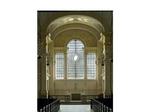 Introduction Fig 1 New east window in St Martin-in-the-Fields Church, London The east window The window is the instrument through which an image asserts itself a place [of] contemplative