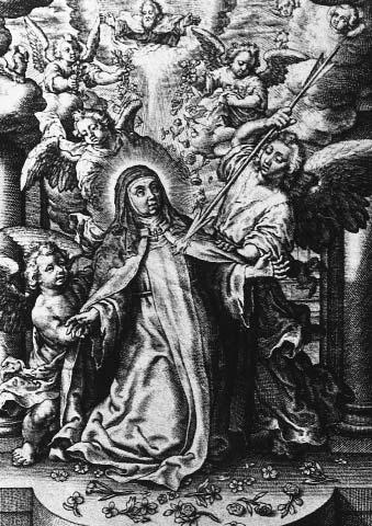 saint teresa of ávila s martyrdom 217 Figure 3. Anton Wierix, Transverberation of St. Teresa, early 17 th century.
