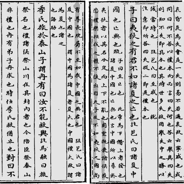 ELMAN: One Classic and Two Classical Traditions 71 Figure 7. Wang Danwang s version of the barbarian passage in the copy of Lunyu yishu transcribed for the Imperial Library.