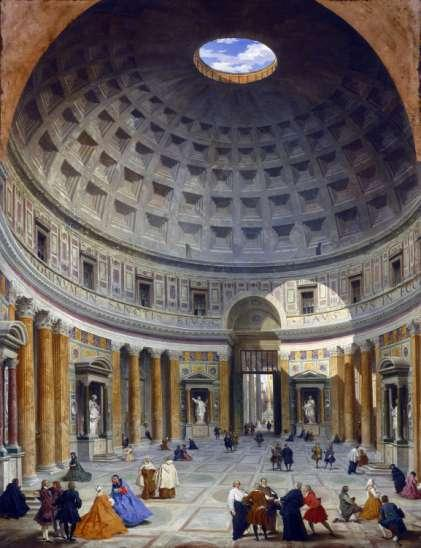 François-René de Chateaubriand Interior of the Pantheon,