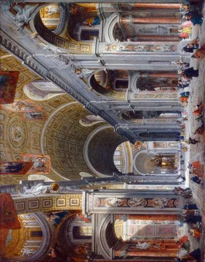 Travels in Italy Interior of Saint Peter's, Rome