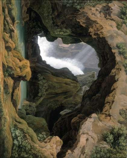 François-René de Chateaubriand The Grotto of Neptune in Tivoli