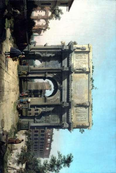 François-René de Chateaubriand View of the Arch of Constantine with the Colosseum